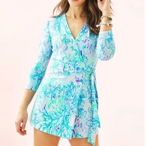 NWT Lilly Pulitzer Karlie Wrap Romper - Small